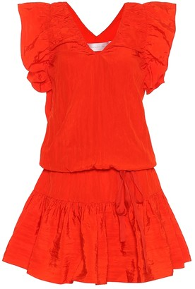 Victoria Victoria Beckham Ruffled V-neck dress