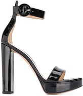 Gianvito Rossi patent open toe sandals
