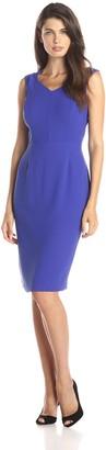 Andrew Marc Women's Cap Sleeve V-Neck Sheath Dress