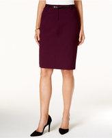 Calvin Klein Petite Belted Pencil Skirt