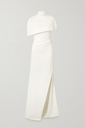 Brandon Maxwell Cape-effect Crepe Gown - White