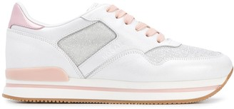 Hogan Low-Top Leather Panel Trainers