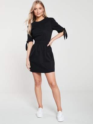 Very Tie Sleeve Denim Dress - Black