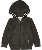 River Island Mini boys grey waffle hoodie