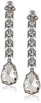 Kenneth Jay Lane Bride Clear Crystal Arrow-Drop Clip-On Earrings