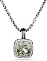 David Yurman Albion Pendant with Prasiolite & Diamonds