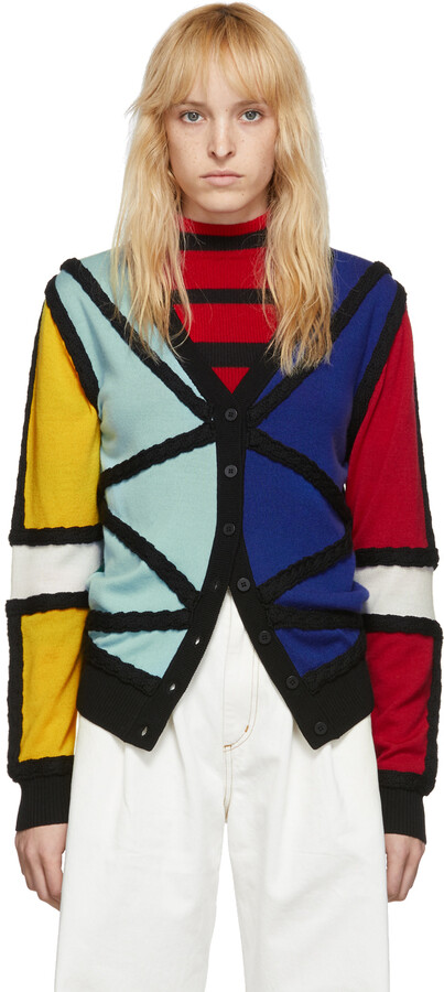 Thumbnail for your product : Charles Jeffrey Loverboy Black Lord Of The Flies Cardigan