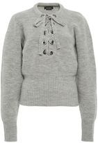 Isabel Marant Charley Lace-Up Wool Sweater
