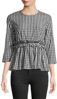 philosophy Gingham Fit & Flare Blouse