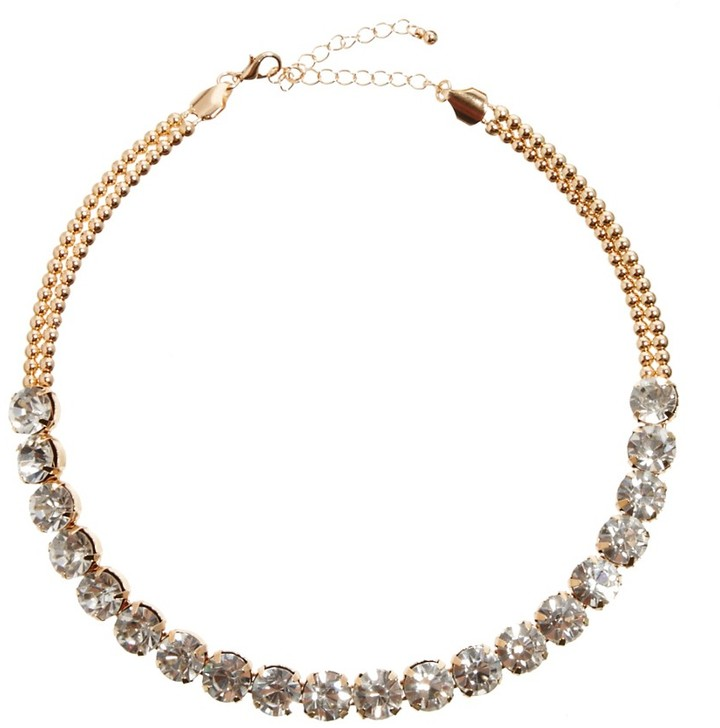 Asos Vintage Style Choker Necklace - Clear