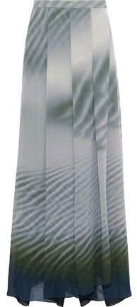 Giorgio Armani Wrap-Effect Printed Woven Maxi Skirt