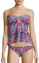 Michael Kors Angelina Open Back Bandini Swim Top