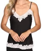 Vince Camuto Black Pink Women's Size XL Lace Trim Cami Blouse