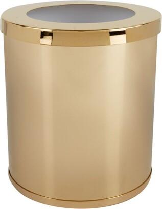 Zodiac Cylinder Gold-Plated Bathroom Bin