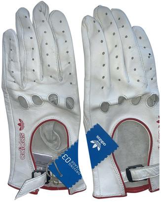 adidas White Leather Gloves