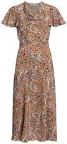 Etro Floral Paisley Silk Midi Dress
