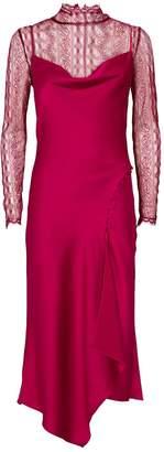 Jonathan Simkhai Satin Lace Overlay Dress