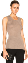 Calvin Klein Collection Cocco Cashmere Rib Tank in Neutrals.