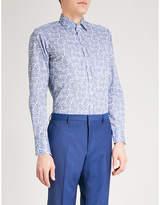 Etro Paisley Slim-fit Cotton Shirt