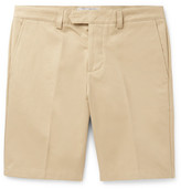 Ami Slim-fit Cotton-drill Chino Shorts - Beige