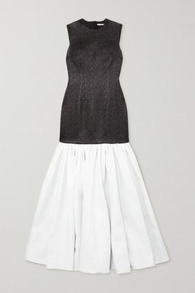 Emilia Wickstead Kay Ruffled Two-tone Cloque Gown - Black