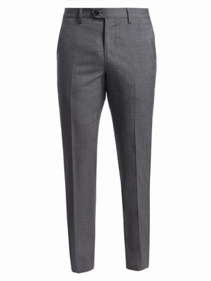 Brunello Cucinelli Lightweight Wool Flat Front Trousers