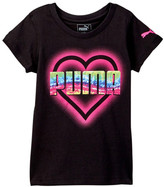 Puma Heart Graphic Tee (Little Girls)