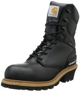 """Carhartt Men's 8"""" Waterproof Breathable Safety Toe Leather Logger Boot CML8231"""