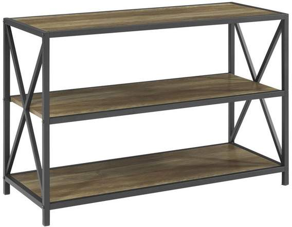 metal and wood bookcase shopstyle rh shopstyle com