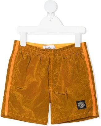 Stone Island Junior Logo-Patch Shorts