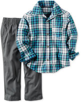 Carter's 2-Pc. Plaid Shirt & Pants Set, Baby Boys (0-24 months)