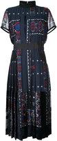 Sacai pleated high neck midi dress - women - Cotton/Polyester/Cupro/Rayon - 2