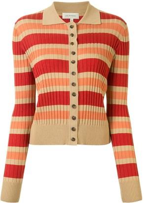 Lee Mathews Ribbed Stripe Cardigan