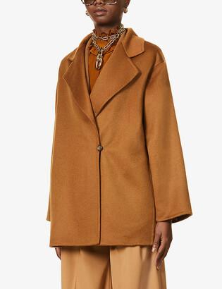 Max Mara Kassel wrap-over cashmere jacket