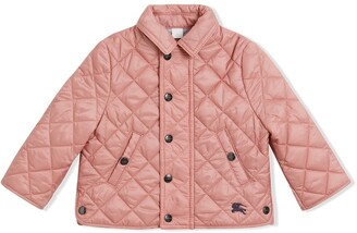 BURBERRY KIDS Lightweight Diamond Quilted Jacket