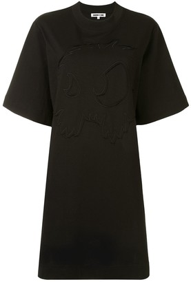 McQ embroidered T-shirt dress