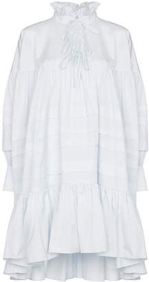 Cecilie Bahnsen Ruffle neck flared dress