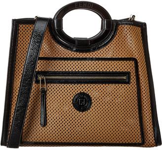Fendi Runaway Leather Shopper Tote