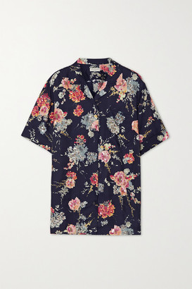 Dries Van Noten Embellished Floral-print Twill Blouse - Blush