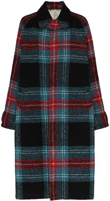 Charles Jeffrey Loverboy Doctors tartan wool coat