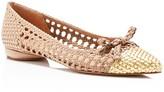 Delman Shana Woven Cap Toe Ballet Flats