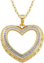 SPARKLE ALLURE Classic Treasures Diamond-Accent Cutout Heart Pendant Necklace