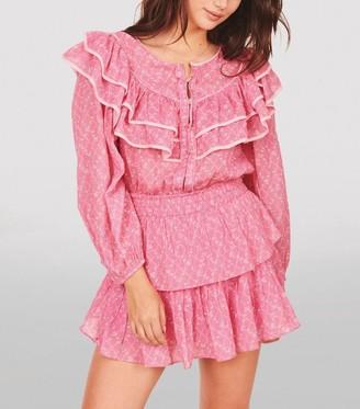 LoveShackFancy Luca Ruffle Mini Dress