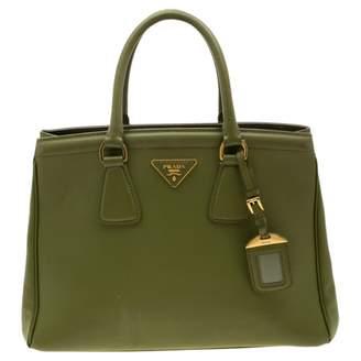 Prada saffiano Green Leather Handbags