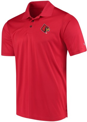 Champion Men's Red Louisville Cardinals Solid Interlock Polo