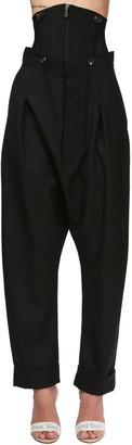 Vivienne Westwood Wool Twill Wide Leg Pants W/corset