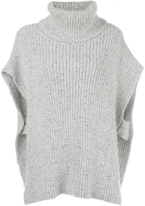 Adam Lippes Roll Neck Knitted Poncho