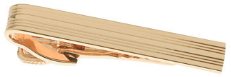 J.Crew Gold-plated double-stripe tie clip