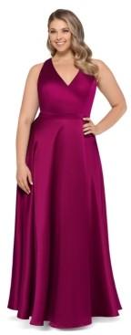 Xscape Evenings Plus Size Satin Ball Gown