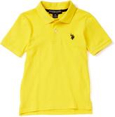 U.S. Polo Assn. Mid-Day Yellow Horse Emblem Polo - Toddler & Boys